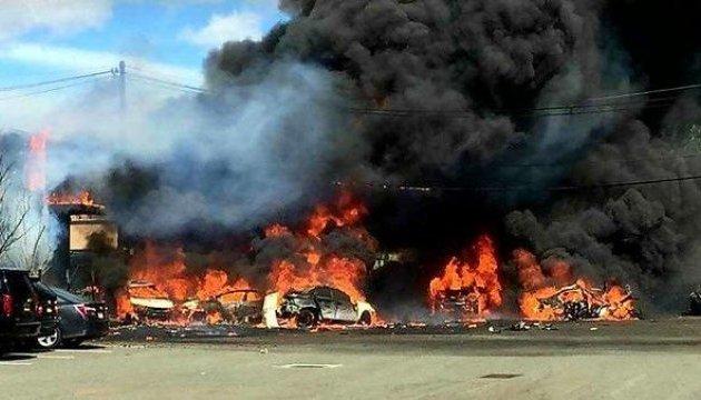 Реактивный самолет разбился в Нью-Джерси